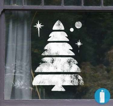 Vinyl template sticker which you can spray your snow effect and have this fabulous Christmas design on your window or glass surface.