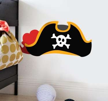 A pirate hat from our pirate wall stickers collection for the little ones that love pirates! A typical hat featuring a skull.