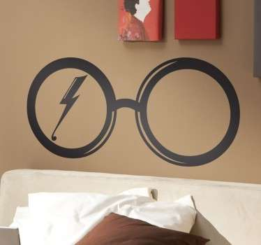 Wall sticker decorativo che raffigura gli famosi ochiali di Harry Potter.