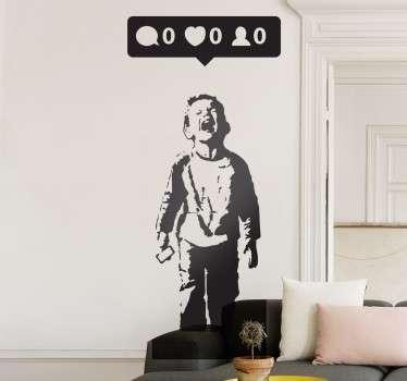 "Sticker Banksy bambino ""nobody likes me"""