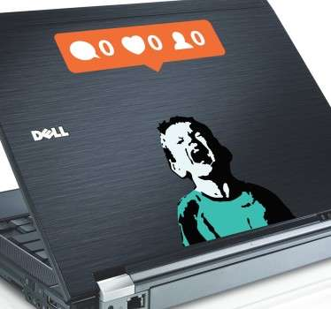 Nobody Likes Me Banksy Laptop Sticker