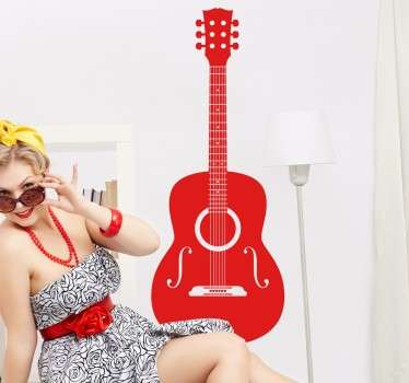 Akustik gitar duvar çıkartması