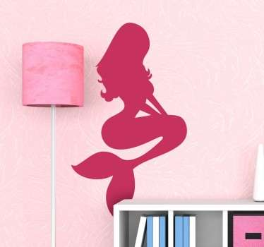 Mermaid silueta autocolant de perete