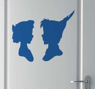 Vinilo decorativo perfil Peter Pan y Wendy