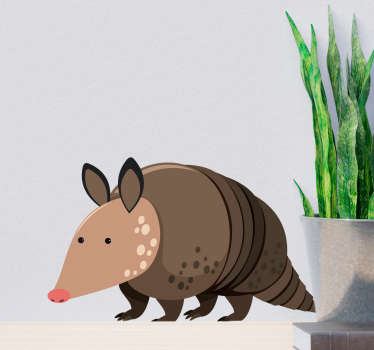 Kids Armadillo Wall Sticker