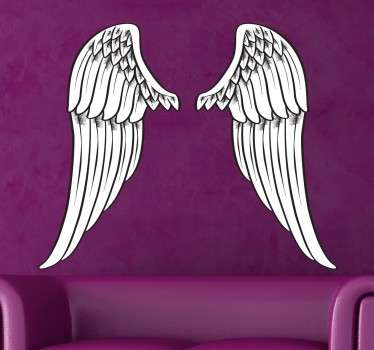 A design to give a mystical and divine tone to the interior design of your home. Brilliant decal from our angel wings wall art collection.