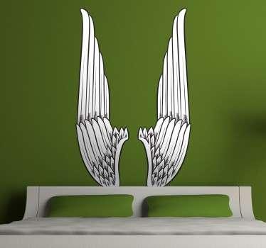 Vertical Angel Wings Wall Art Sticker