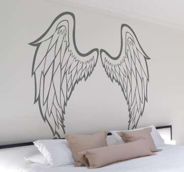 Outline of Angel Wings Wall Art Sticker