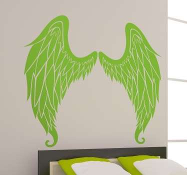 Two symmetrical angel wings perfect for any wall in your home. Brilliant decal from our collection of angel wings wall art stickers!