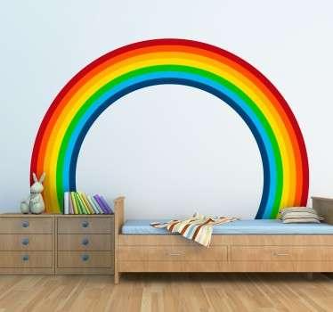 Perfecte regenboog sticker