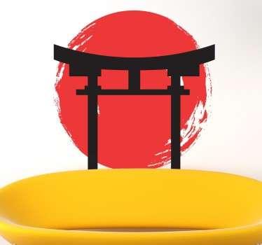 日本の寺のアイコンステッカー