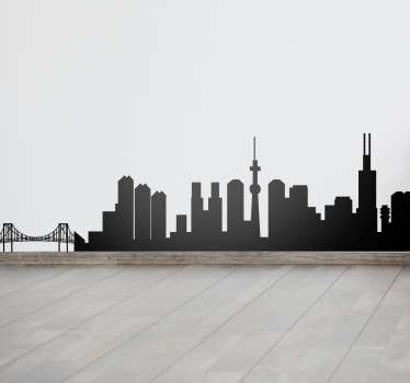 Skyline Tokio Aufkleber