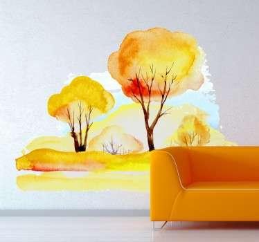Efterårs landskab wallsticker