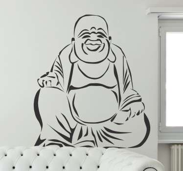 Outline design of a Buddha from our collection of Buddha wall stickers to decorate your favourite room and enjoy a calm atmosphere.