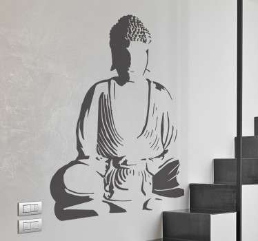 A monochrome design from our collection of Buddha wall stickers to personalise your own space and give it a touch of originality.
