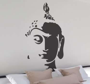A brilliant design illustrating the head of the Tathagata Buddha from our collection of Buddha wall stickers.