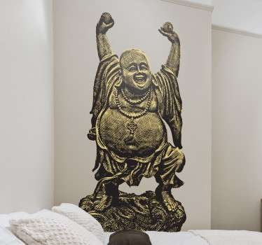 Skulptur Buddha Wandtattoo