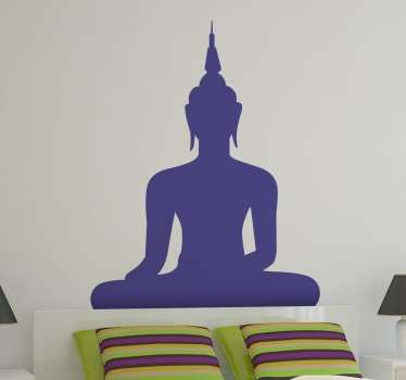 A fascinating silhouette design of a Buddha from our original collection of Buddha wall stickers to decorate your home.