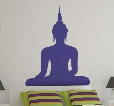 Silhouette Boeddha sticker