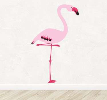 розовая эмблема настенного искусства фламинго