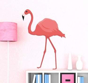 Adesivo murale fenicottero rosa