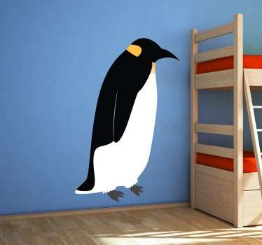 A superb design illustrating an emperor penguin from our collection of penguin wall stickers to decorate your home.