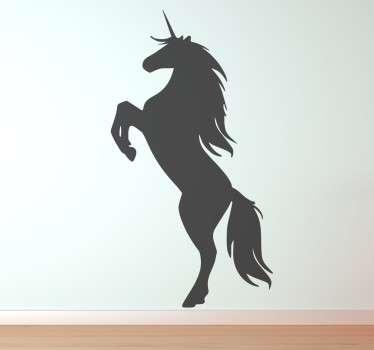 Monocrom unicorn de perete autocolant