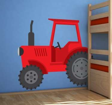 Red Tractor Wall Sticker