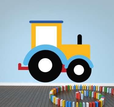 Kids Yellow Tractor Wall Sticker