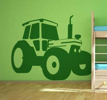 Sticker original pour décorer la chambre des enfants, avec ce tracteur réaliste et totalement personnalisable.