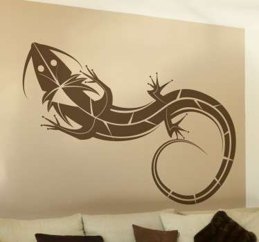 Adhesivo decorativo ilustración lagarto