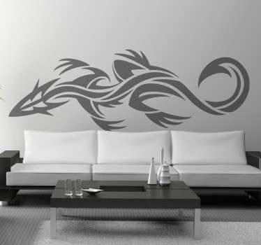 An original design of a lizard inspired by tribal tattoo designs. Brilliant decal from our creative collection of gecko wall art stickers.