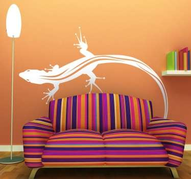 Do you like lizards? Are you looking for a decal for your home? If yes, then this design from our collection of gecko wall art stickers is perfect!