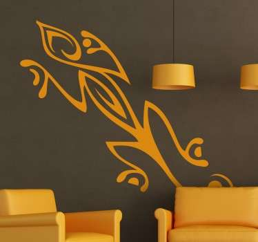 Original tribal gecko wall art klistremerke
