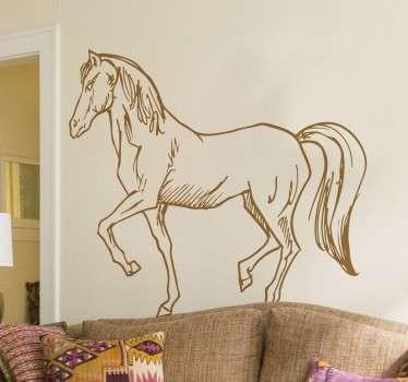 Vinilos de caballos con un estilo tipo esbozo ideales para cualquier estancia.