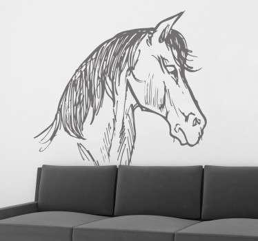 Vinil decorativo desenho de cabeça de cavalo