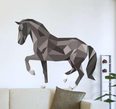 Vinilo decorativo caballo poligonal
