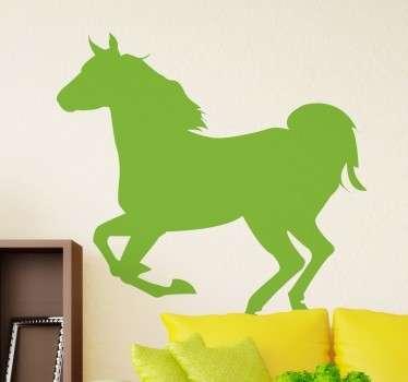 Vinilo silueta caballo al galope
