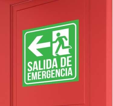 Vinilo de señalización con el que indicarás claramente donde está la puerta de emergencia.