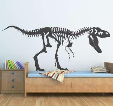 T-rex skjelett klistremerke