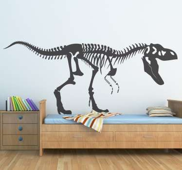 T-rex skelett klistermärke