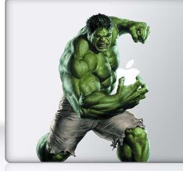 Vinilos de Hulk para la decoración de portátiles, para un público aficionado a los superhéroes.