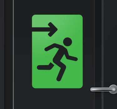 Sign-age sticker to clearly indicate where the emergency exit is located.