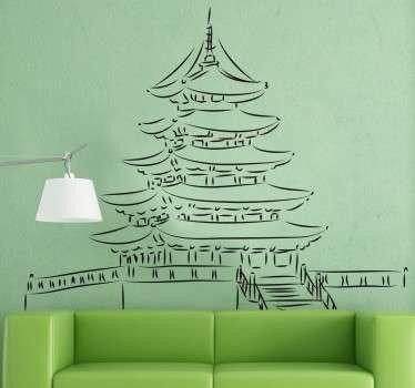 Wall sticker tempio Asia