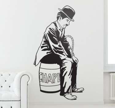 Vinilo decorativo retrato de Chaplin