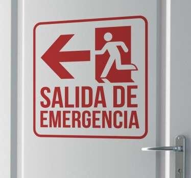 Vinilo señalización salida de emergencia
