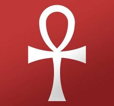 Symboli egypt cross ansée kotiseinätarra