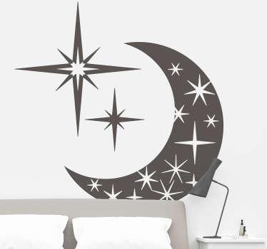 달 & 별 벽 스티커