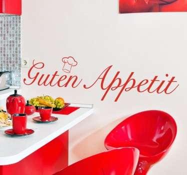 """""""Guten Appetit"""" Kitchen Sticker"""