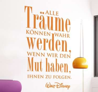 Traum Walt Disney Sticker